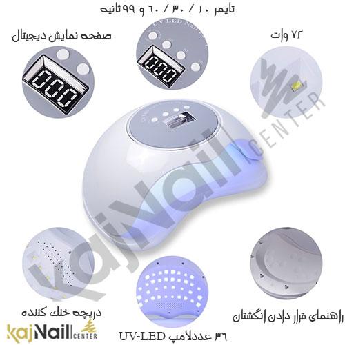 دستگاه یو وی ال ای دی سان 72 وات