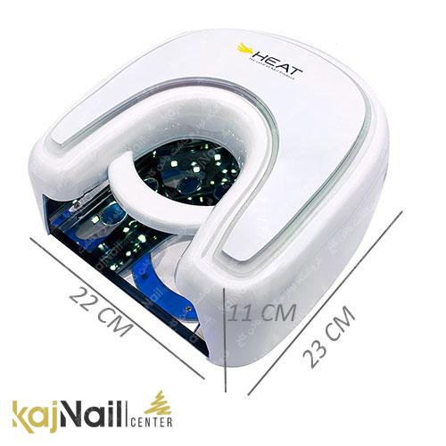 ابعاد دستگاه یو وی ال ای دی ناخن هیت HEAT h1