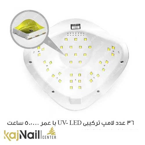 قدرت لامپ دستگاه یو وی ال ای دی سان 5 پلاس sun 5 plus
